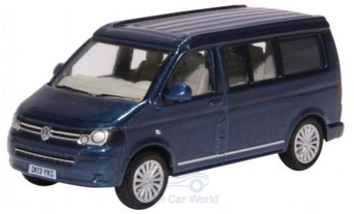 Volkswagen T5 1/76 Oxford California Camper metallise bleue miniature
