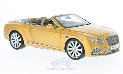 Bentley Continental T 1/18 Paragon GT Convertible gold RHD 2016 miniature