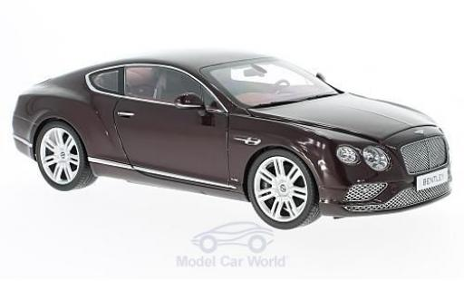 Bentley Continental T 1/18 Paragon GT dunkelrouge 2016 miniature