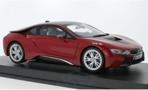 Bmw i8 1/18 Paragon rouge miniature