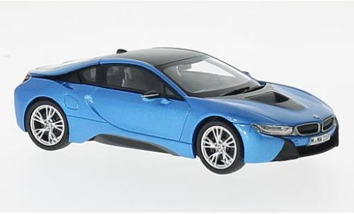 Bmw i8 1/18 Paragon metallise bleue/grise miniature