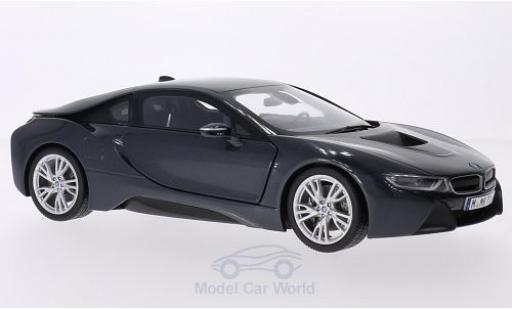 Bmw i8 1/18 Paragon metallise grise miniature