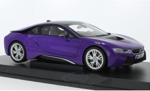 Bmw i8 1/18 Paragon purple diecast model cars