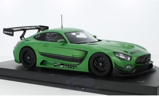 Mercedes AMG GT 1/18 Paragon 3 matt-green 2016 diecast model cars