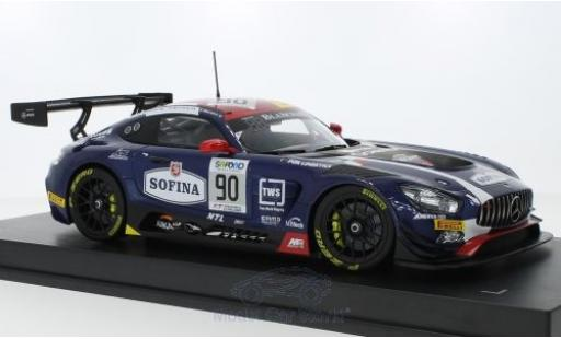 Mercedes AMG GT 1/18 Paragon 3 No.90 Akka ASP Blancpain Endurance Series 24h Spa Francorchamps 2017 E.Mortara/M.Meadows/R.Marciello diecast model cars