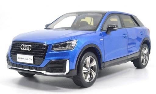 Audi Q2 1/18 Paudi L metallise blue 2018 diecast model cars