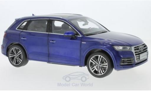 Audi Q5 1/18 Paudi L metallic-bleue 2018 miniature