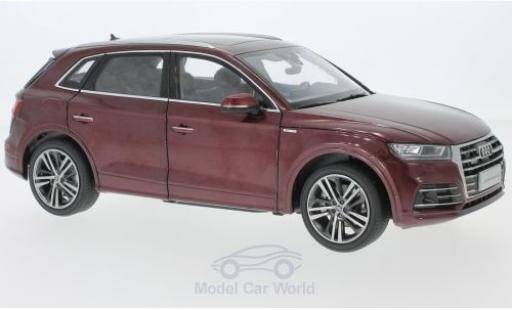 Audi Q5 1/18 Paudi L metallic-dunkelrouge 2018 miniature