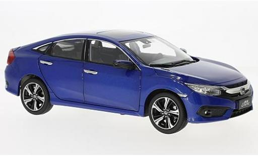 Honda Civic 1/18 Paudi metallise blue 2016 diecast model cars