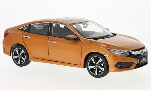 Honda Civic 1/18 Paudi metallise orange 2016 miniature