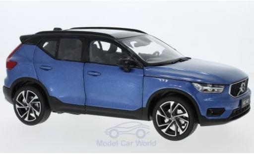 Volvo XC 1/18 Paudi 40 métallisé bleue 2018 miniature
