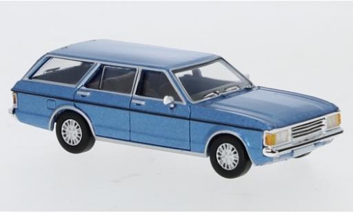 Ford Granada 1/87 PCX87 MK I Turnier metallise blue 1974 diecast model cars