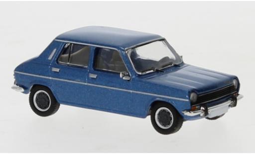 Simca 1100 1/87 PCX87 metallise bleue 1975 miniature