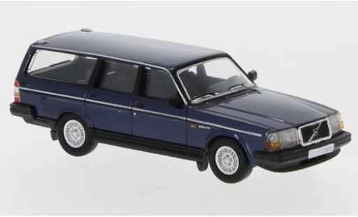 Volvo 240 1/87 PCX87 GL Kombi metallise blue 1989 diecast model cars