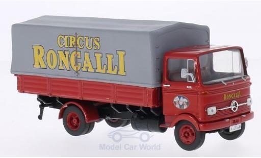 Mercedes LP 608 1/43 Premium ClassiXXs rouge Circus Roncalli mit Plane miniature
