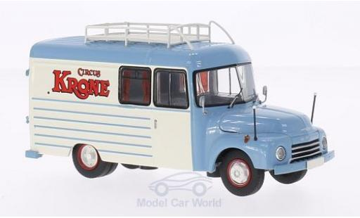 Opel Blitz 1/43 Premium ClassiXXs 175t Circus Krone Fenster-Koffer-LKW mit Dachgepäckträger miniature
