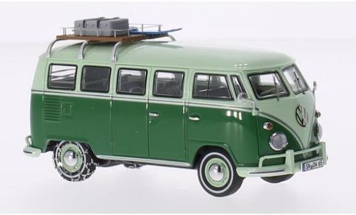 Volkswagen T1 1/43 Premium ClassiXXs Mindersamba grün/grün avec chaînes à neige et Rack de toit modellautos