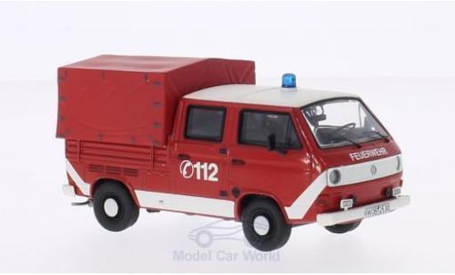 Volkswagen T3 A 1/43 Premium ClassiXXs a Doka rot/weiss Feuerwehr mit Plane modellautos