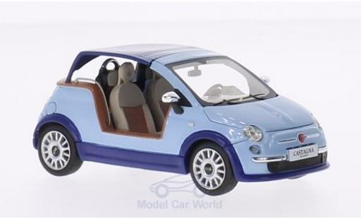 Fiat 500 L 1/43 Premium X Tender Two blue Castagna Milano 2008 diecast model cars