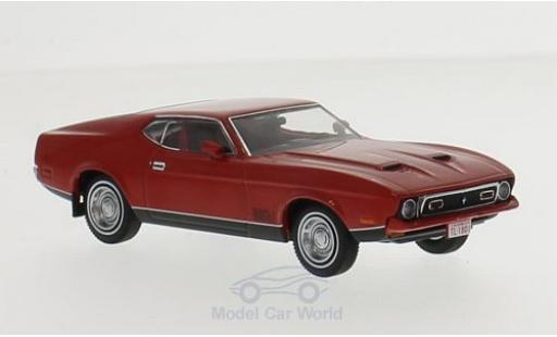 Ford Mustang 1971 1/43 Premium X Mach 1 rouge miniature