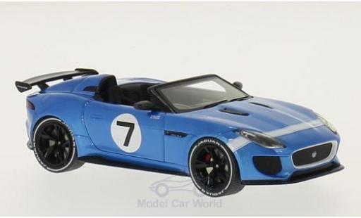 Jaguar F-Type 1/43 Premium X Project 7 bleue 2015 miniature
