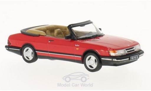 Saab 900 Turbo 1/43 Premium X Cabriolet rouge 1991 miniature