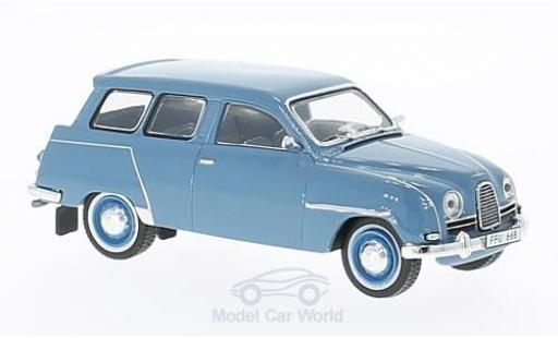 Saab 95 1/43 Premium X bleue miniature