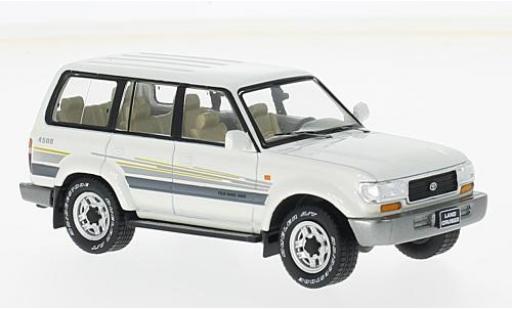 Toyota Land Cruiser 1/43 Premium X LC80 metallise white 1996 diecast model cars