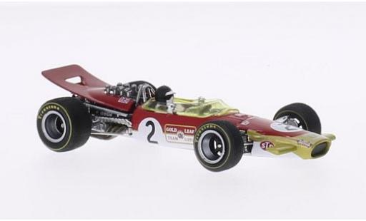 Lotus 49B 1/43 Quartzo No.2 GP Belgien 1968 avec figurine de conducteur J.Oliver miniature