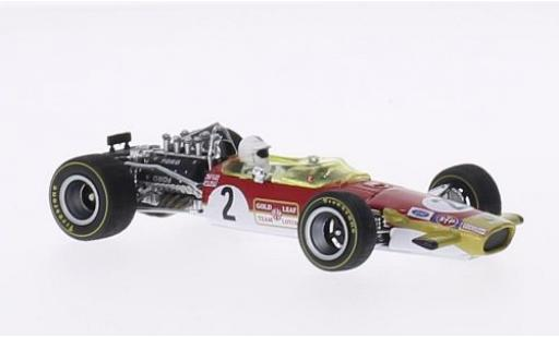 Lotus 49B 1/43 Quartzo No.2 GP Monaco 1969 avec figurine de conducteur R.Attwood miniature