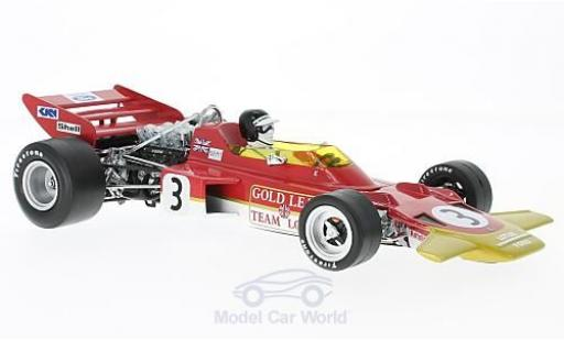 Lotus 72 1/18 Quartzo No.3 Team Gold Leaf Formel 1 GP Spanien 1970 J.Rindt miniature