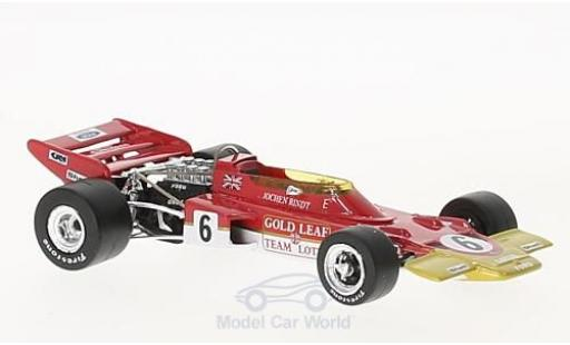 Lotus 72 1/43 Quartzo C No.6 Gold Leaf Formel 1 GP Frankreich 1970 J.Rindt miniature