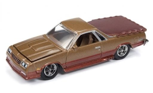 Chevrolet El Camino 1/64 Racing Champions Mint metallise marron 1986 miniature