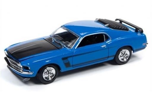 Ford Mustang 1/64 Racing Champions Mint Boss 302 bleue/matt-noire 1969 miniature