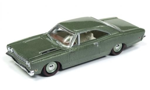 Plymouth Road Runner 1/64 Racing Champions Mint metallise verte 1968 miniature