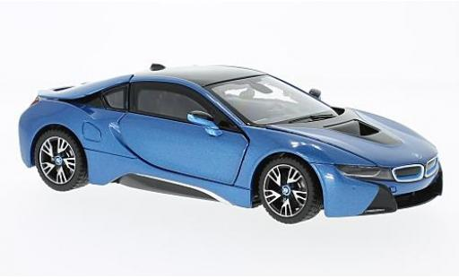 Bmw i8 1/24 Rastar metallise blue diecast model cars
