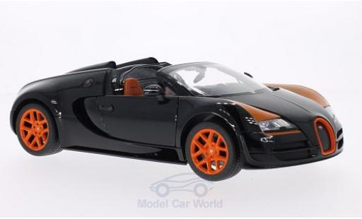 Bugatti Veyron Grand Sport 1/18 Rastar 16.4 Vitesse noire/orange miniature