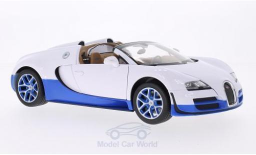 Bugatti Veyron Grand Sport 1/18 Rastar 16.4 Vitesse blanche/bleue miniature