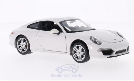 Porsche 911 1/24 Rastar Carrera S white diecast model cars