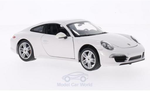 Porsche 911 1/24 Rastar Carrera S weiss modellautos