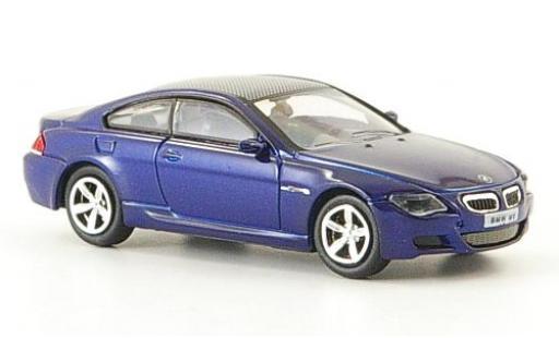 Bmw M6 1/87 Ricko blue 2006 diecast model cars