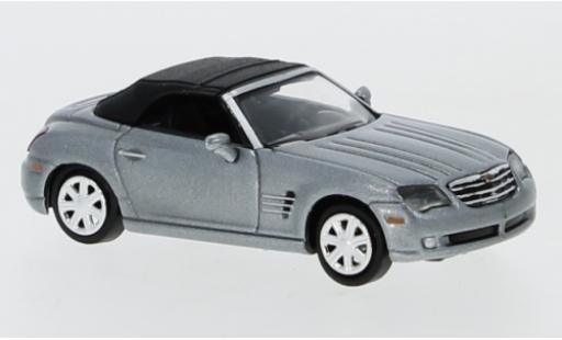 Chrysler Crossfire 1/87 Ricko Roadster metallise grise Verdeck fermé miniature