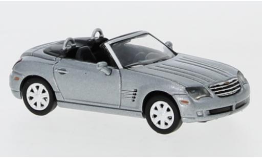 Chrysler Crossfire 1/87 Ricko Roadster metallise grise Verdeck ouvert miniature