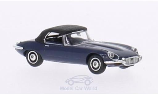 Jaguar E-Type 1/87 Ricko Roadster bleue Verdeck geschlossen ohne Vitrine miniature