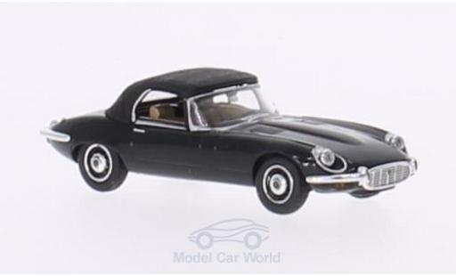 Jaguar E-Type 1/87 Ricko Roadster schwarz 1971 Verdeck geschlossen ohne Vitrine modellautos