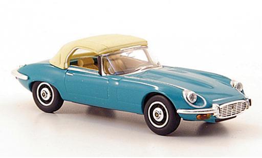 Jaguar E-Type 1/87 Ricko Roadster turquoise 1971 Verdeck fermé sans Vitrine miniature