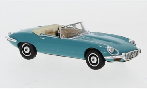 Jaguar E-Type 1/87 Ricko Roadster turquoise Verdeck ouvert miniature