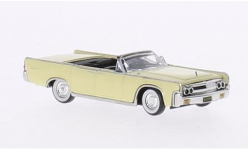 Lincoln Continental 1/87 Ricko Convertible yellow 1963 diecast model cars