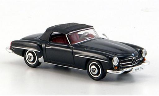 Mercedes 190 1/87 Ricko SL (W121 BII) black diecast model cars