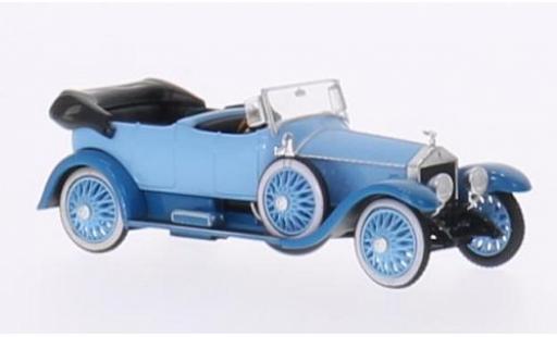 Rolls Royce Silver Ghost 1/87 Ricko bleue/bleue RHD Verdeck geöffnet ohne Vitrine miniature
